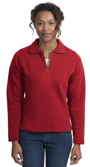 Sport-Tek L253 Ladies 1/4 Zip Sweatshirt.