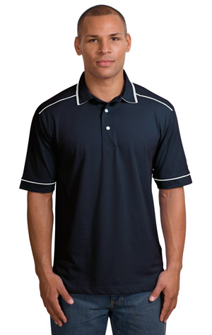Sport-Tek T301 Pima-TekSport Shirt with Contrast Piping.