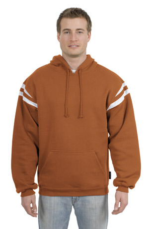 Sport-Tek F261 Pullover Hooded Sweatshirt with Mesh Arm Stripe.