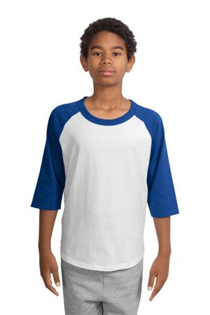Sport-Tek® YT200 Youth Colorblock Raglan Jersey