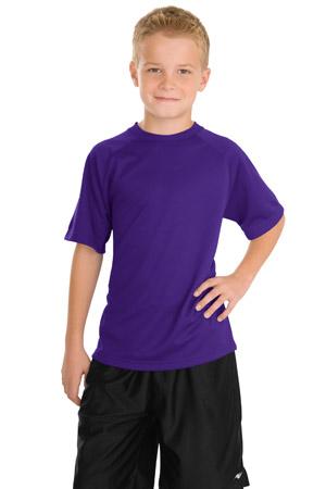 Sport-Tek® Y473 中青年青少年Dry Zone™ 插肩袖T恤