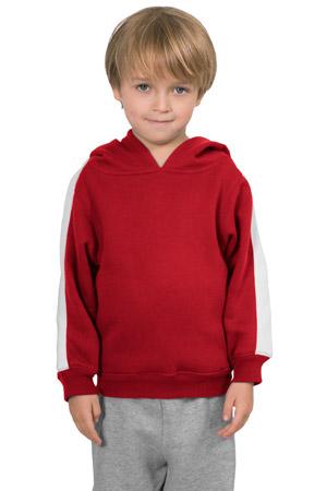 Sport-Tek® Y255 Youth Pullover Hooded Sweatshirt with Stripe