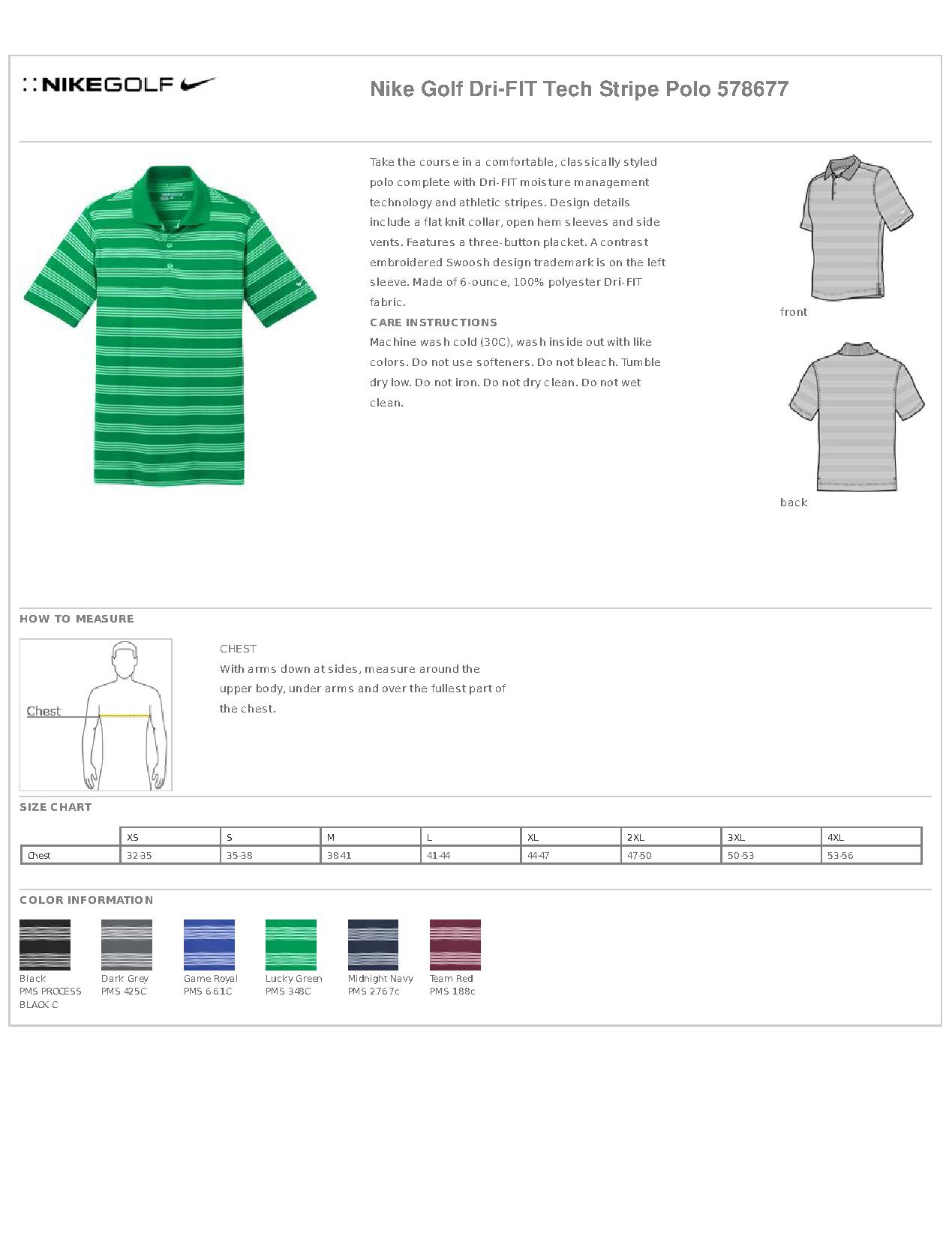 e348cf18 Nike Golf Dri Fit Tech Stripe Polo Shirt   Top Mode Depot