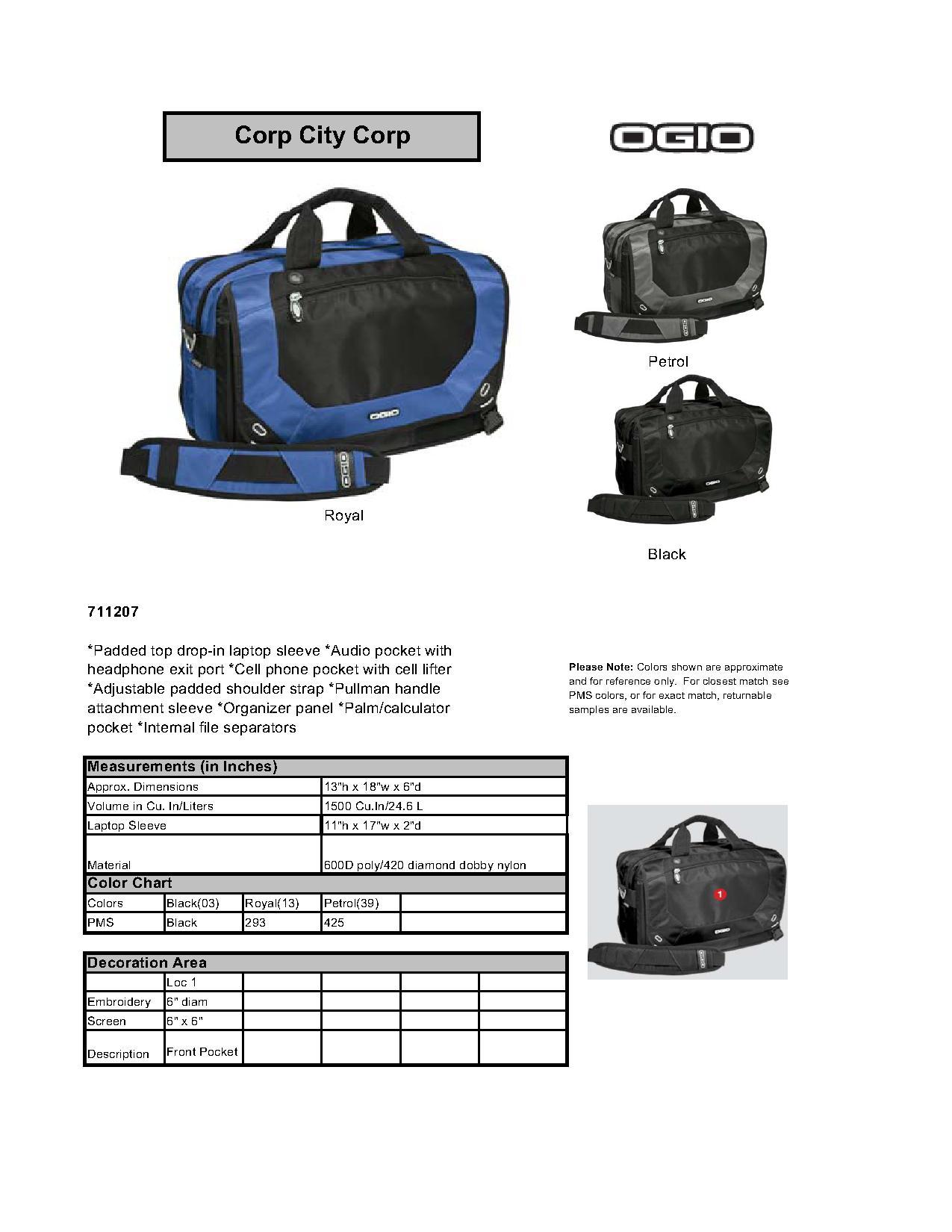 OGIO® 711207 Corporate City Corp Messenger - Accessories bad47fc8fb