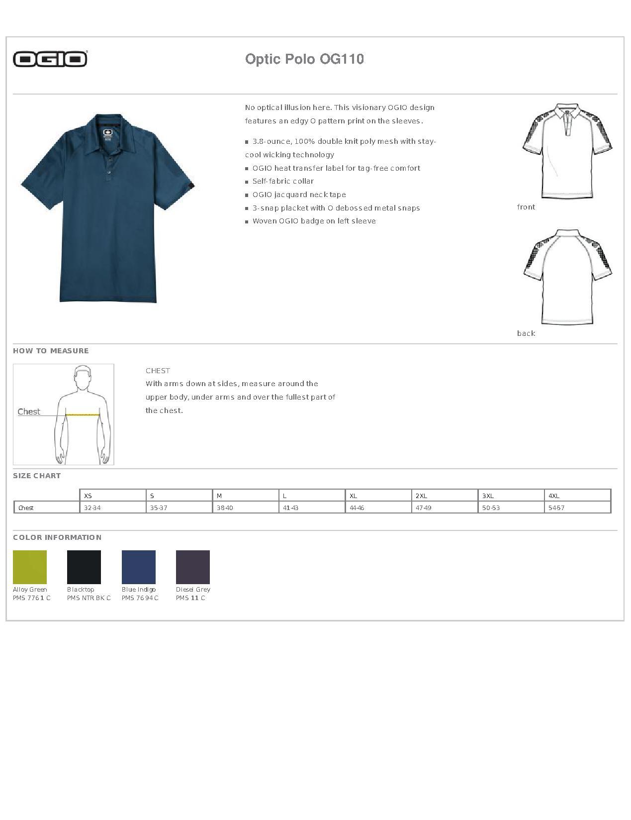 efe119ad OGIO® OG110 Optic Polo - Sports Shirts