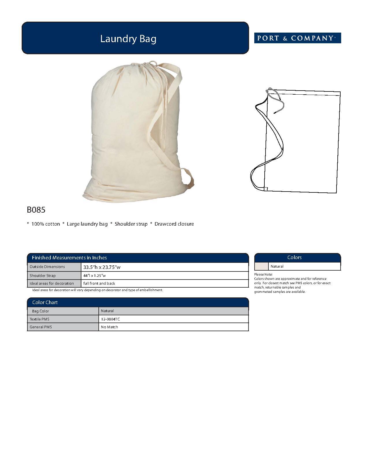 Port company b085 laundry bag accessories specs sizing specs nvjuhfo Choice Image