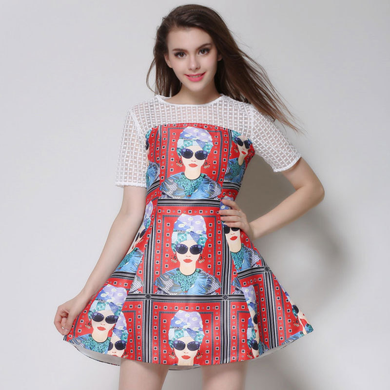 temperament of high-end printing see-through dresses ...