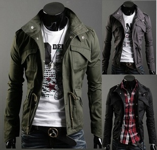 Arrival Men's Fashion Casual Winter Jacket Cotton Lapel ...