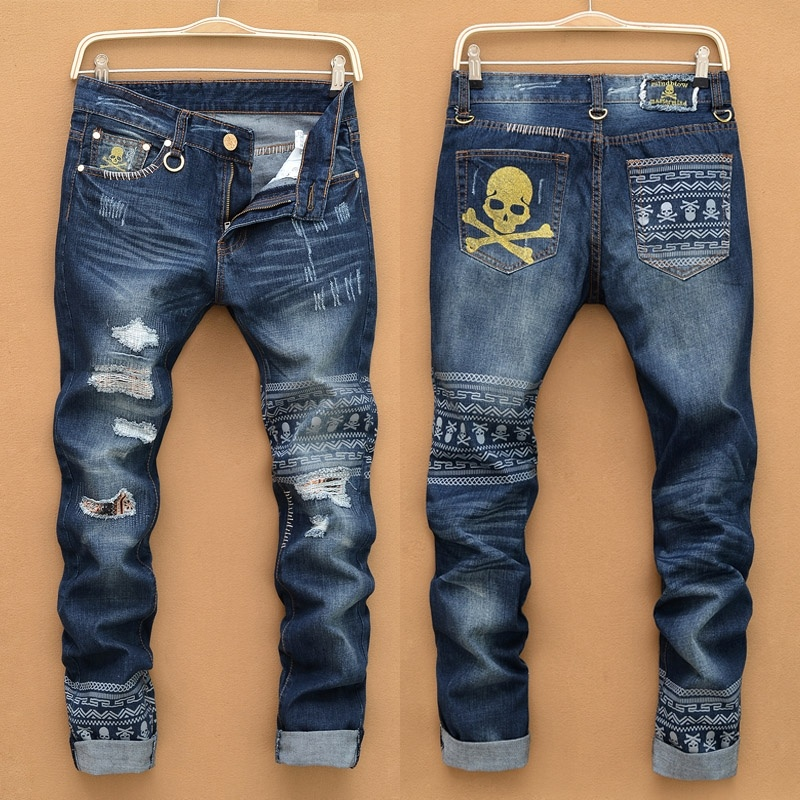 Autumn and Winter Tide Brand Men's Fashion Denim Jeans ...