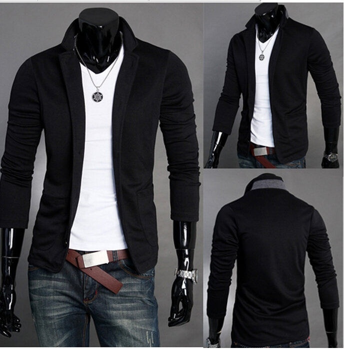 autumn men's casual suit slim knit suit