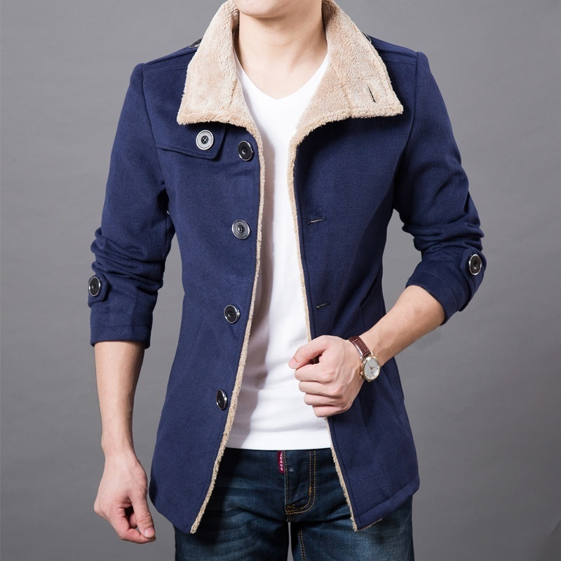 Autumn Mens Fashion Casual Top Slim Overcoat