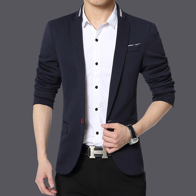 autumn new men's business casual men's suit suit fat ...