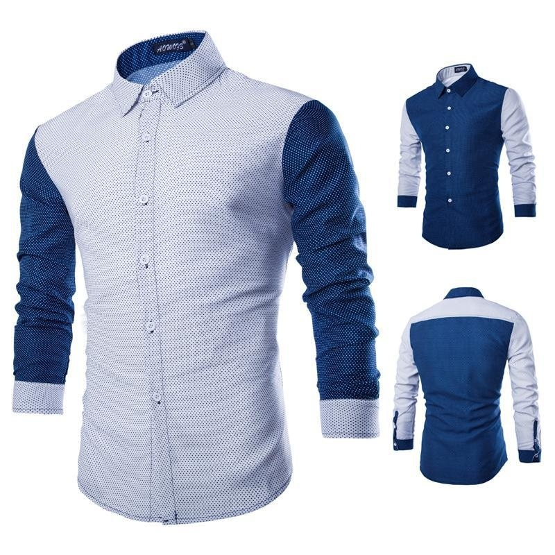 Autumn New Men's Shirts, Casual Fashion Wave Long Sleeved ...