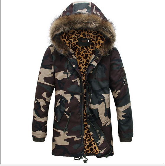 Autumn winter Fashion camouflage parka men military ...