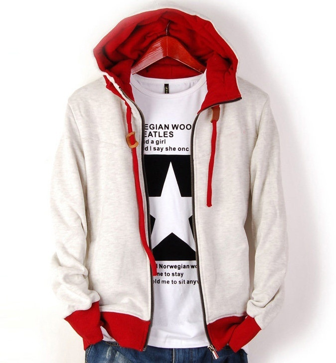 Autumn Winter Fashion Men'S Long Sleeve Casual Hooded ...