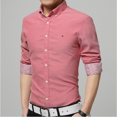 Autumn&Winter Men's Long Sleeved Shirt Oxford Silm ...