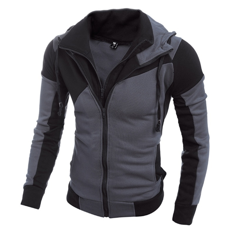Boutique men! New men's personality color double zipper ...