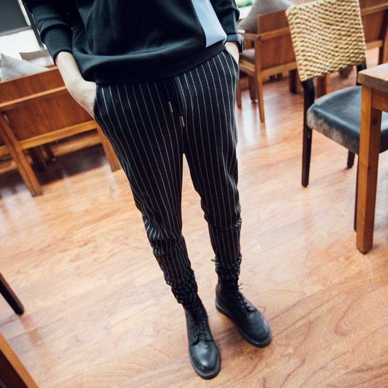 British style Kennedy fringe men's casual pants male ...