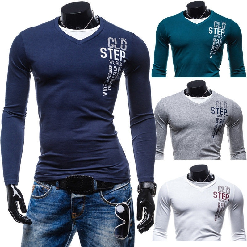 English pattern men cultivating new personality V-neck ...