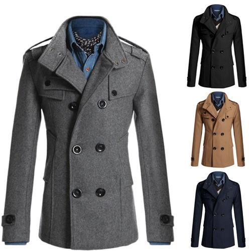 Fashion Brand Winter Mens Jackets And Coats Mens Double ...