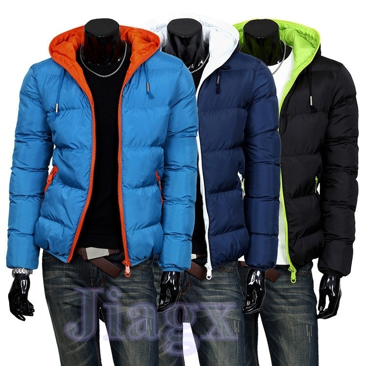 Fashion Mens Winter Jacket Men's Hooded Wadded Coat ...