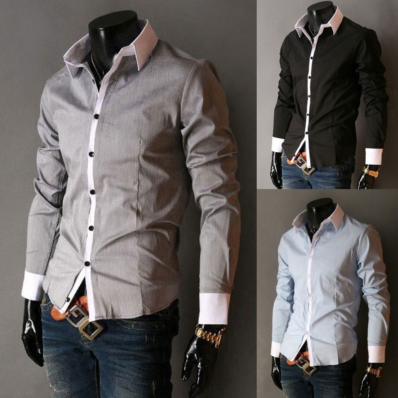 Foreign trade for the classic men's casual color long ...