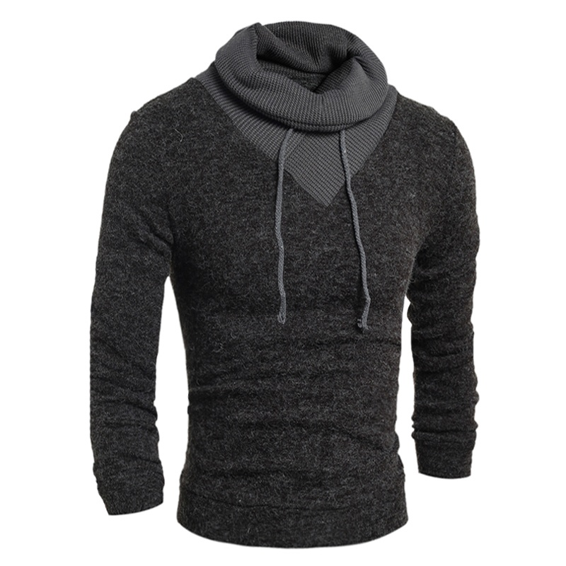 geek new men's sweater fashion pullover high collar ...