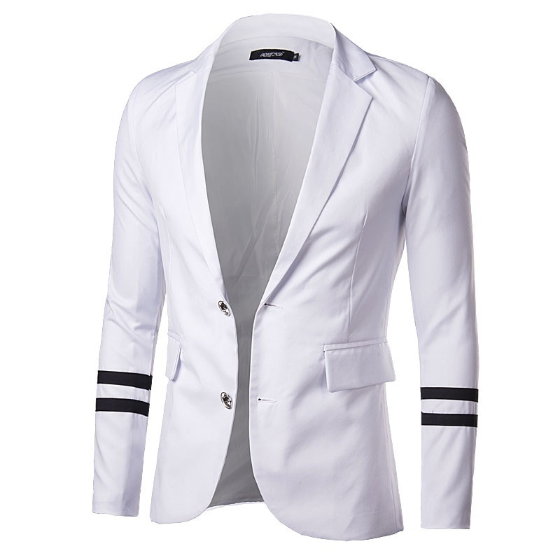 Hot fashion men cultivating small suit coat stitching