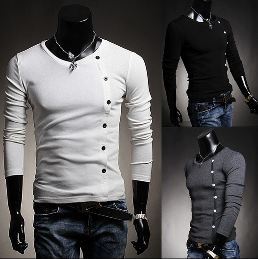 hot sale men's fashion long sleeve shirt