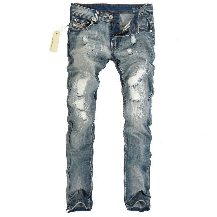 Leisure&Casual mens jeans male denim trousers ripped ...