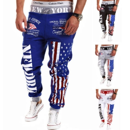 Men Casual Training Sport Sweat Pants Jogging Hip Pop ...