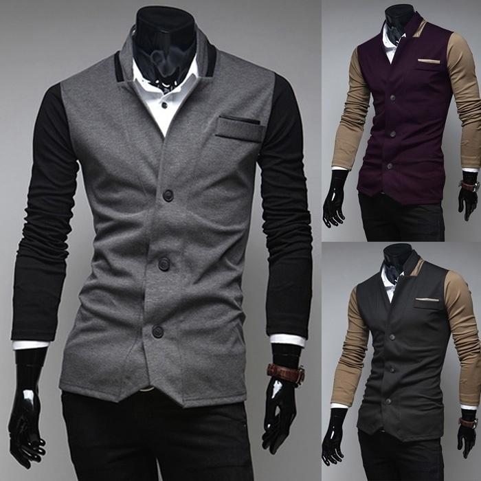 Men Jackets & Coats The new men's fashion casual ...