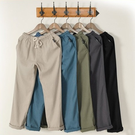 Men linen casual trouse