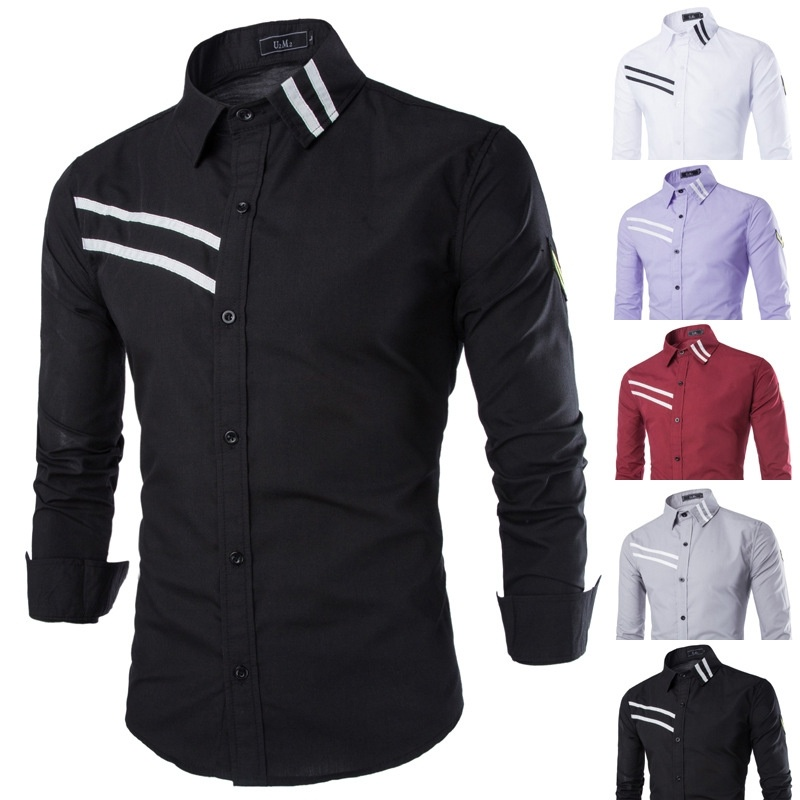 Men's Fashion Business And Leisure Long-sleeved Shirt