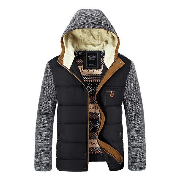 Men's Fashion  Cotton-Padded hoodie  Winter Down Jackets