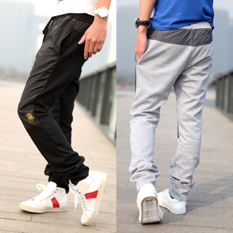 Men's Fashion Loose Long Sports Pants Running Trousers ...