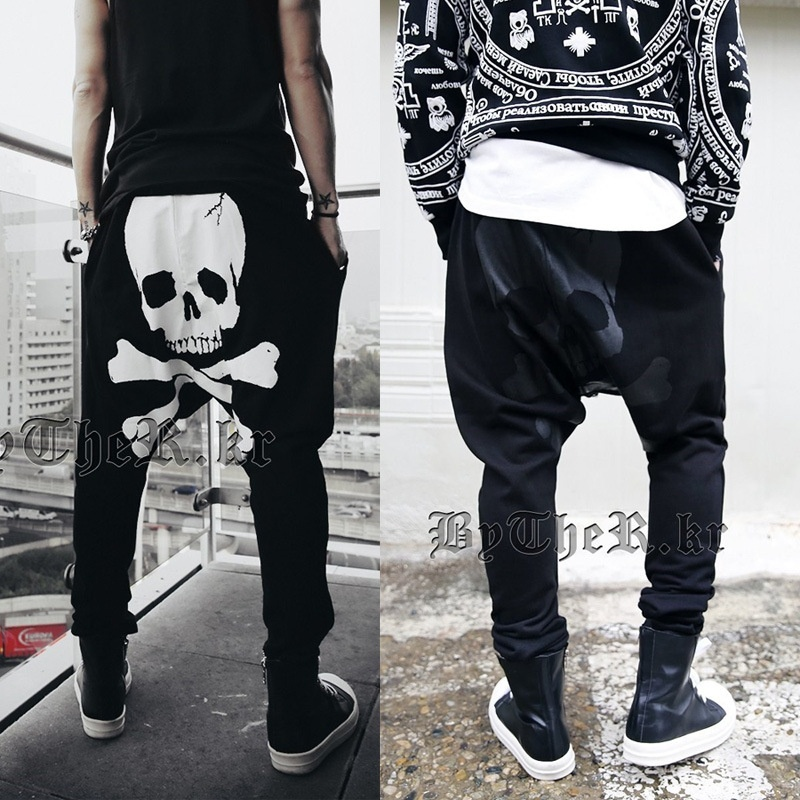 Men's Head of The Head of A Man's Skull Haren Long Pants