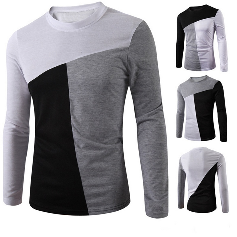Men's Mosaic Cotton Full Sleeve Slim T-Shirt