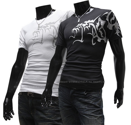 Men's round neck short sleeve T-shirt