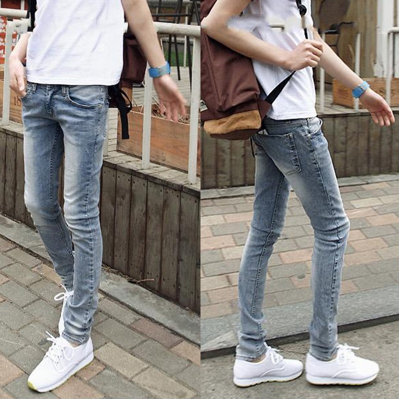 Men's Slim Off White Jeans