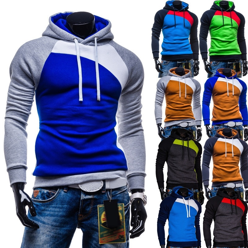 Mens spring new Korean men's fashion color hooded hoodies,...