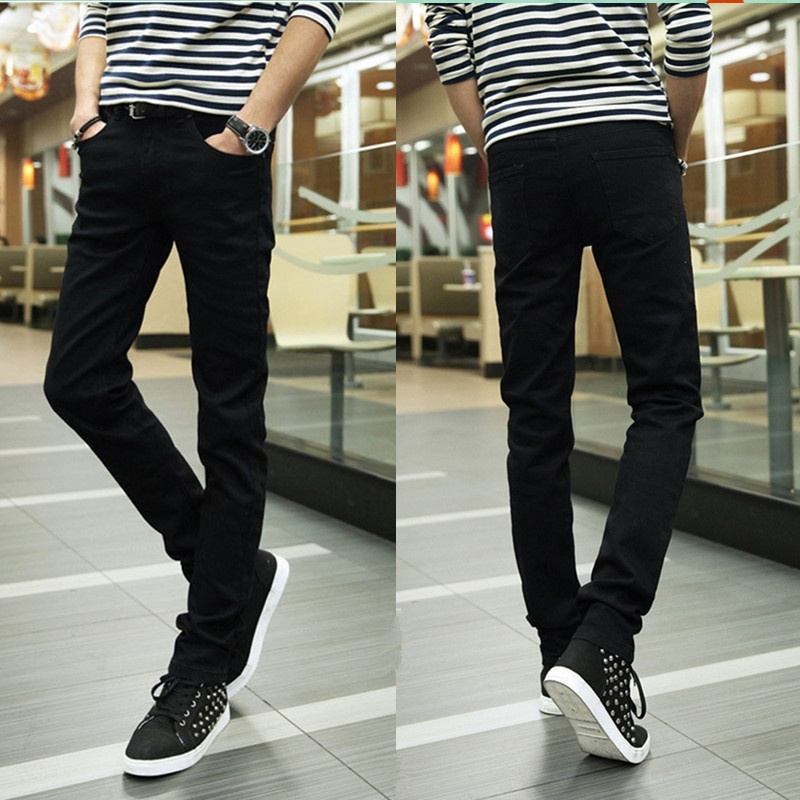 Men's Tight Fitting Jeans Stretch Jeans