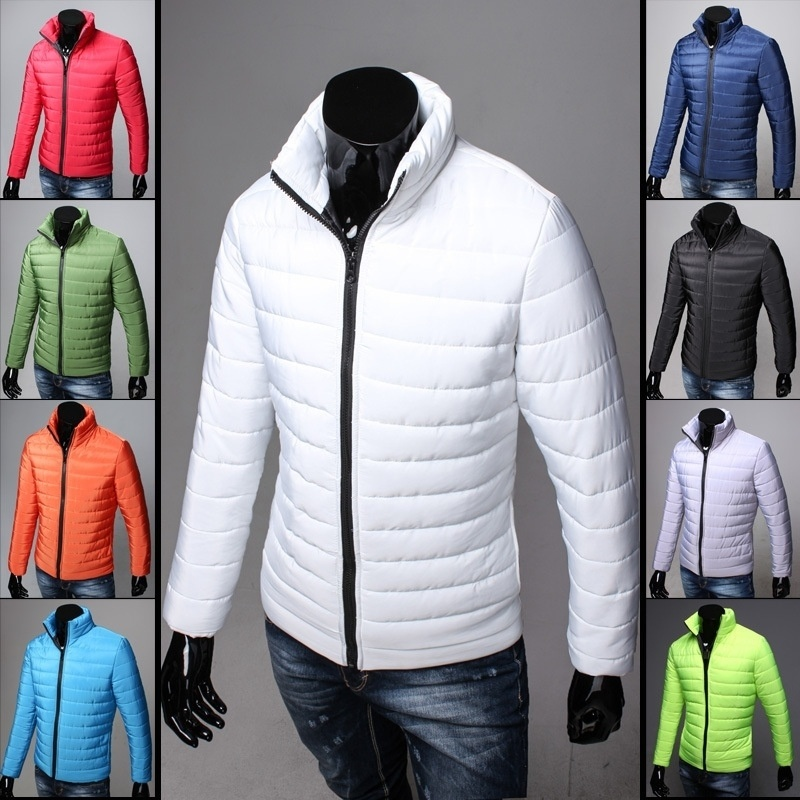 Men's Winter Cotton-padded Jacket Slim Thickened Coat ...