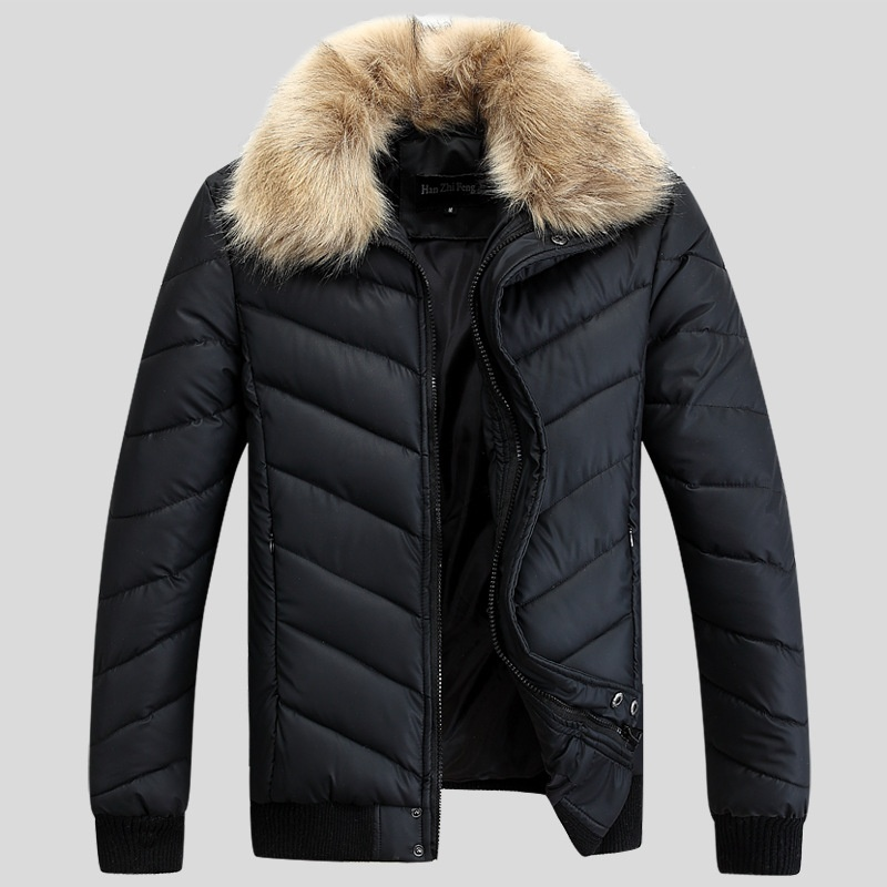 Mens Winter Jacket Wadded Coats Outerwear Male Slim ...