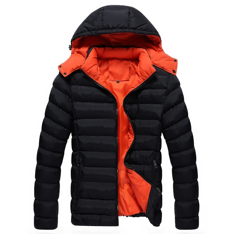 Men's Winter Thicken Padded Jacket Casual Cotton Down ...