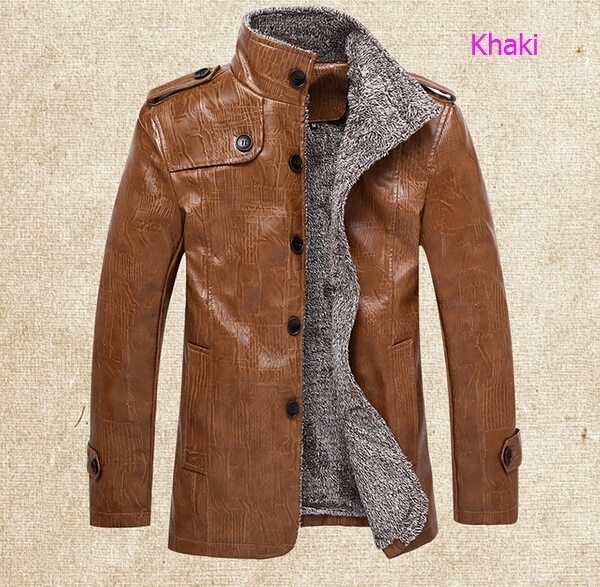 Men's Winter  Thickened Leather Jackets