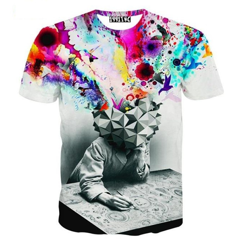 new fashion The Thinker Printing Abstract t-shirt Unisex ...