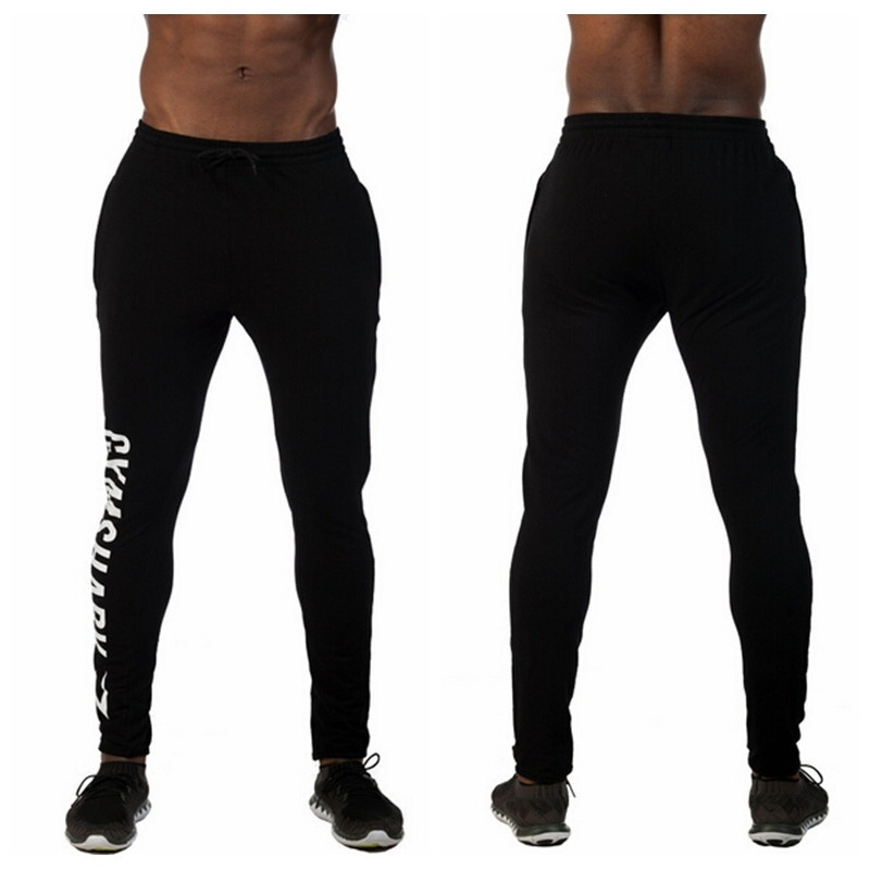 New GYM Sport Pants Men Brand Training Pants Leg Printe ...
