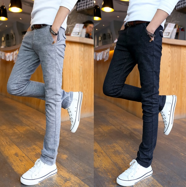 New men's casual pants, casual pants are slim feet