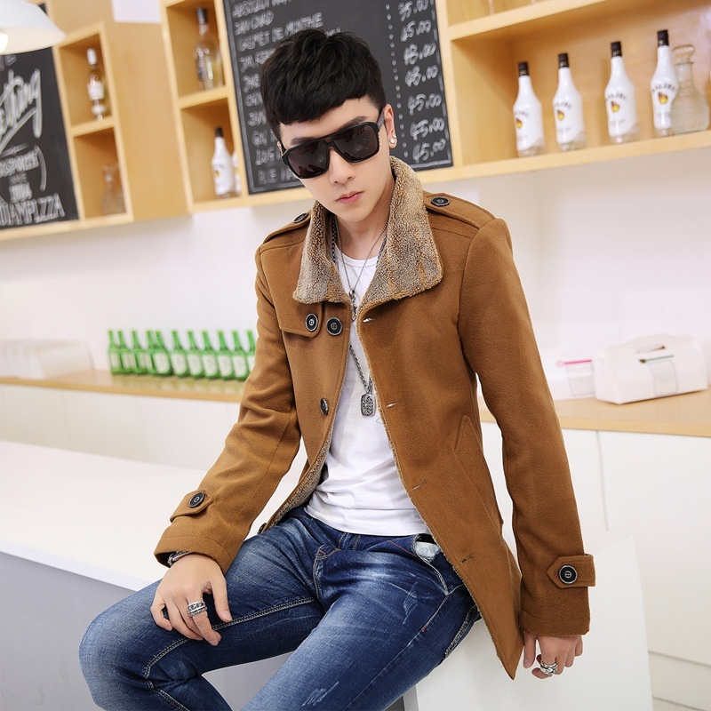 New Winter men leather and fur coat male fashion warm ...